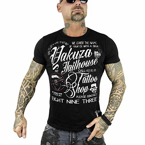 Yakuza Herren Oberteile / T-Shirt Jailhouse schwarz 2XL