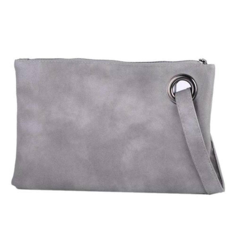 Evening and daily casual clutch bag (gray)