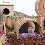 Niteangel Hamster Climbing Ladder Wooden Suspension Bridge for Guinea Pigs Rats Hedgehog Gerbils Mouse Sugar Glider and Other Small Animals