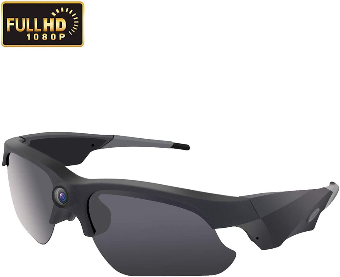 KAMRE Upgraded Sunglasses Camera 1080P Video Recorder Camera with UV Protection Polarized Lens, 120 Wide View Angle for Outdoor Sports, Great Gift for Your Family and Friend