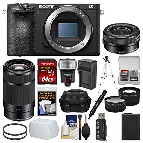 Sony Alpha A6500 4K Wi-Fi Digital Camera Body with 16-50mm &