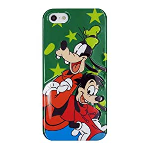 Verde oscuro Theme Parks Goofy Protectora de la piel de TPU cubierta suave para Apple iPhone 5 5s 5G 5th Generation with CableCenter Cable Tie