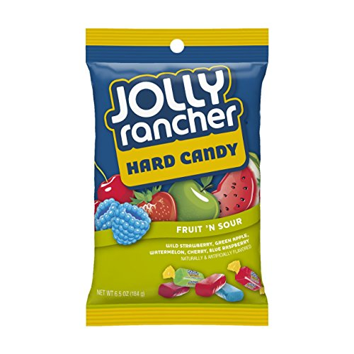 Jolly Rancher Hard Candy Fruit 'n Sour, 6.5-Ounces Bag (Pack of 4)