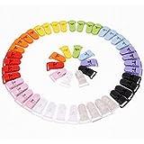 Foxnovo Pince à sucette bretelle attache clip plastique 50pcs (couleur aléatoire)