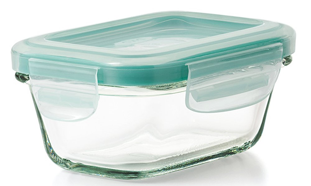 OXO Good Grips 4 Ounce Smart Seal Leakproof Glass Rectangle Food Storage Container
