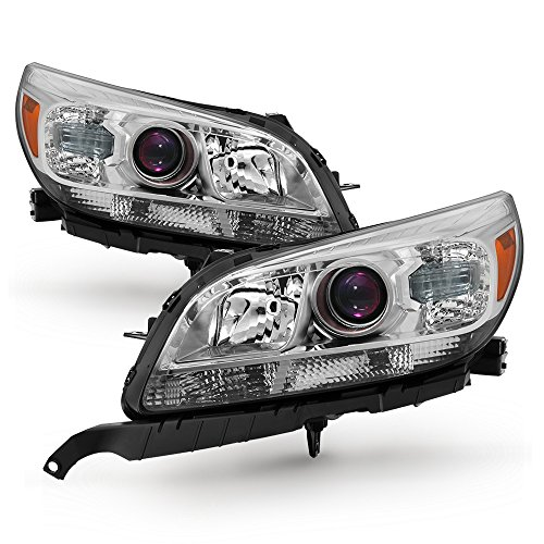 Malibu Headlights Projector - ACANII - For 2013 2014 2015 Chevy Malibu Replacement [Halogen Models] Projector Headlights Driver + Passenger Side