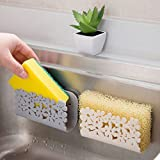 Denzar Kitchen Sink Organizer Caddy, Storage Holder for Sponges, Soaps, Scrubbers - Quick Drying Basket Design with Strong Suction Cups (Beige)