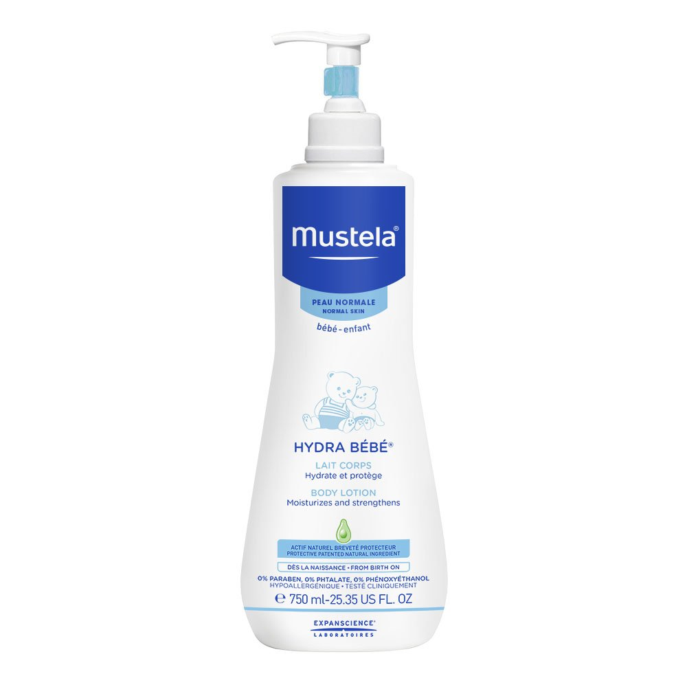 Mustela Hydra Bebe Body Lotion, Daily Moisturizing Baby Lotion for Normal Skin, with Natural Avocado Perseose