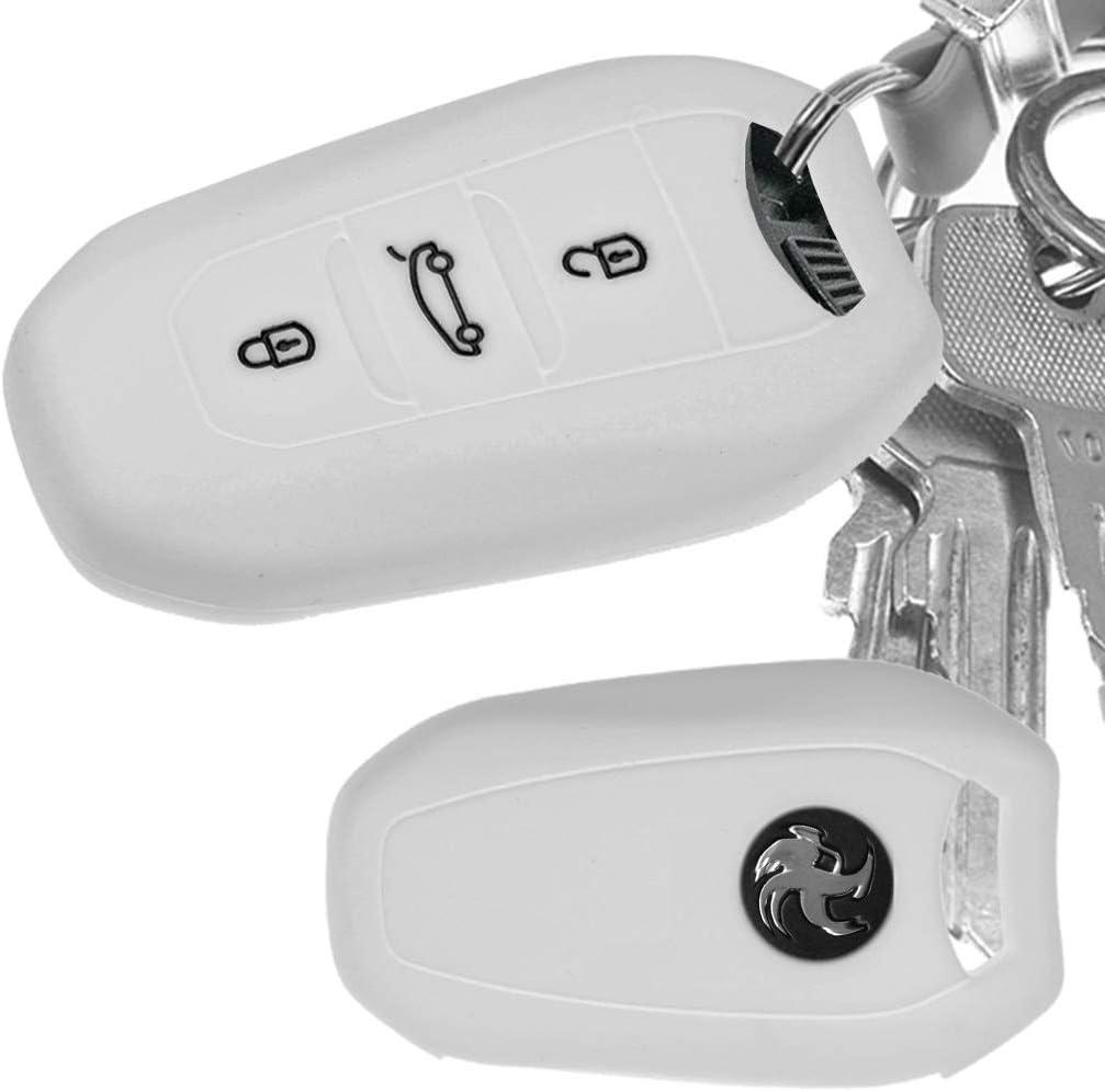 Auto Schlüssel Hülle Silikon Schutz Cover Weiß Für Elektronik