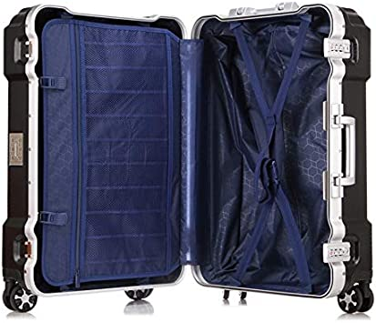 Zxl-xlx Aluminum Frame Trolley case Suitcase Luggage Caster Gift Men and Women 20 Boarding Chassis 24 inch Color : Silver, Size : 24