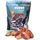 Supreme Pig Ears for Dogs [10 Pack] by Super CAN Bully Sticks, Premium Natural Dog Treats. Deliciously Smoked Pork Chews.