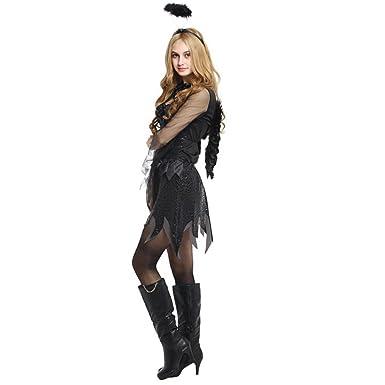 Lady Ghost Bride Terrified Devil Dress Halloween Dark Angel Costume