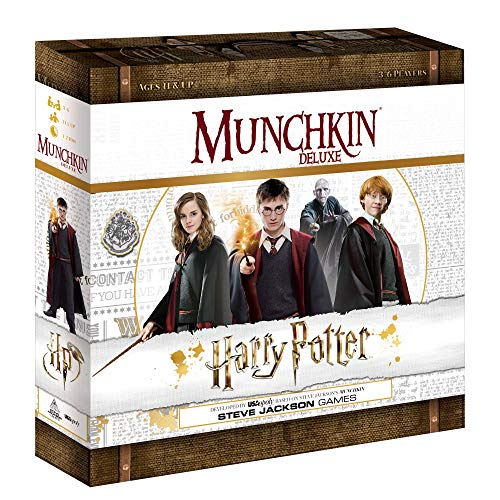 Munchkin Deluxe Harry Potter Board Game | Officially Licensed Harry Potter Gift | Collectible Steve Jackson