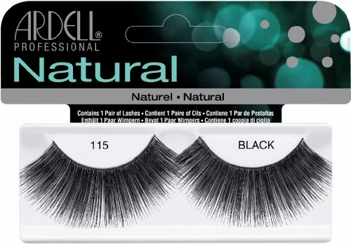 Ardell Fashion Lashes False Eyelashes - #115 Black (Pack of 4)