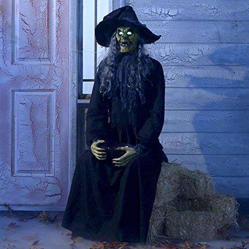 Animated Haunted Witch Halloween Decoration and Prop, 23