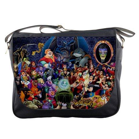 Price comparison product image Disney Villains Messenger Bag School Textbook Macbook Ipad Laptop Computer Sling Cross Body Bags