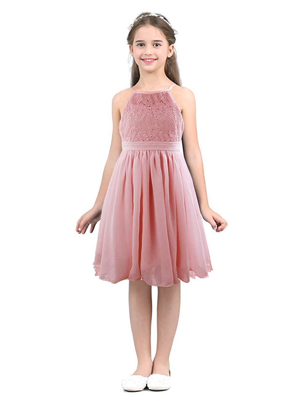 70be3ca85a7 Amazon.com  Mother Day Toddler Little Kids Girl Lace Ruffle Sleeveless  Dress Knitted Tulle Princess Tutu Floral Sundress Clothes Outfit  Clothing