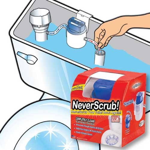 NeverScrub Automatic Toilet Cleaning System by NeverSrcub