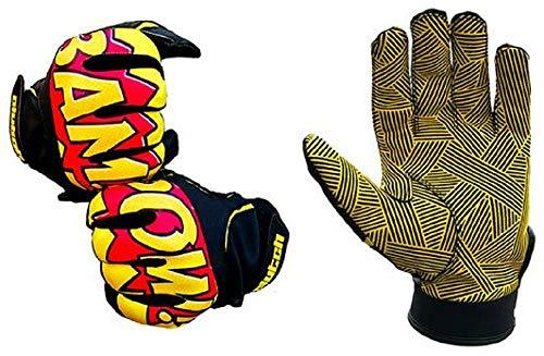 Clutch Sports Apparel BAM! POW Batting Gloves (Youth X-Large) (Glove Super Baseball Skin)