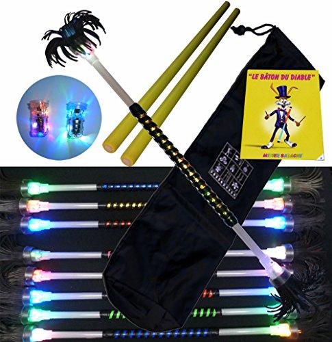 Flowerstick Kit Tag/Nacht (leuchtend) mit Blauen mettallik Band mit ein paar Sticks aus Silicon, Booklund und einer Tasche. Gold mettallik