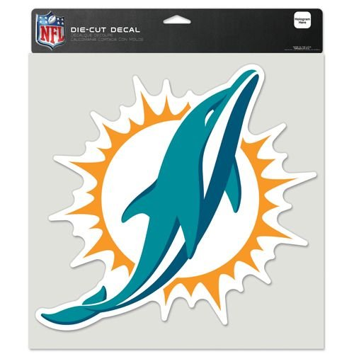 NFL Miami Dolphins Perfect Cut Color Decal, 8