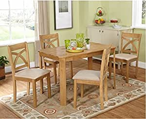 Cavendish 5 Piece Dining Set Includes Dining Table and 4 Upholstered Chairs