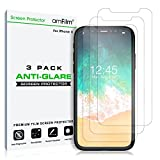 amFilm Screen Protector for iPhone Xs/X (3 Pack) Anti-Glare Matte Flex Film PET Protector