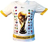 Soccer World Cup 2018 Russia Qualifiers Country Flags Soccer Jersey (Medium)