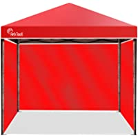 Red Track 3x3m Outdoor Folding Pop-Up Gazebo Marquee, with 3 Walls, Rechargable LED Lamp and Carry Bag, Red