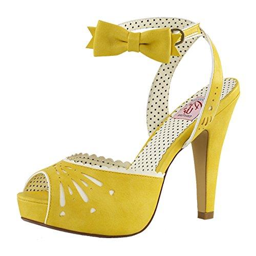 Perfect Mujer Amarillo Gelb Heels alta Pantuflas caña de d0wwFHq