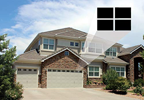 Decorative Magnetic Garage Door Window Panes for 2 Car Garage Door with 4  Spacer for Placement Guides