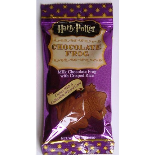 Harry Potter Milk Chocolate Frog with Collectible Wizard Trading Card 4 Packs -