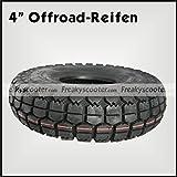 "Freakyscooter Elektro-Scooter Ersatzteil 4"" Offroad-Reifen 4.10/3.50-4 / 4"" Reifen"