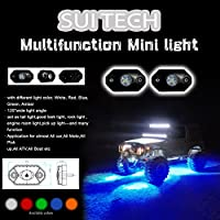 LED RockLight / Mini POD by SuiTech - CREE Flood Work Light - Universal Lamp for Interior and Exterior Off Road Truck Car ATV SUV Jeep 4x4 Boat 4wd ATV Motorcycle - Waterproof Shockproof