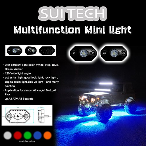 Waterproof Shockproof Jeep Wrangler LED Rock Lights
