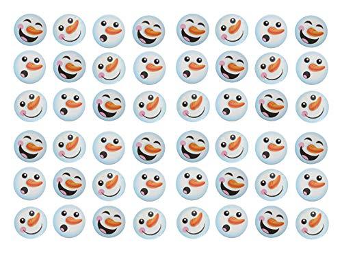 Curious Minds Busy Bags Bulk - 48 Snowman Winter Party Supplies Favor Set - Mini Snowman Slime / Putty (4 -