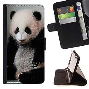 - Panda Bear Bamboo Sad Animal - Estilo PU billetera de cuero del soporte del tir???¡¯????n [solapa de cierre] Cubierta- For Samsung Galaxy S3 III I9300 £¨ Devil Case £©