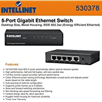Intellinet 530378 Ethernet Switch - 5 Port - 5 x 10/100/1000Base-T