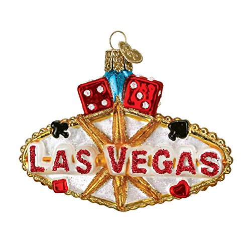 Old World Christmas Ornaments: Las Vegas Sign Glass Blown Ornaments for Christmas Tree