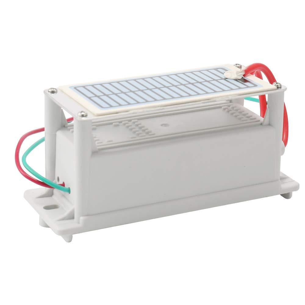 Festnight Generador de ozono de cer/ámica port/átil 220V 6g Larga vida Una tableta de ozono Placa integrada Purificador de agua por aire Ozonizador