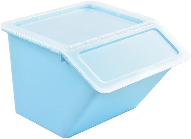 Ppy778 Clamshell Caja de Almacenamiento Cubierta de plástico Ropa Juguetes Caja de Acabado Combinación Snack Pilas de Cocina: Amazon.es: Hogar
