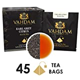 Earl Grey Citrus, 15 Tea Bags (PACK OF 3), 100% NATURAL, Long Leaf Pyramid Earl Grey Tea Bags, Aromatic & Delicious, Black Tea blended with Natural Oil of Bergamot, Packed at Source, Iced Tea Bags