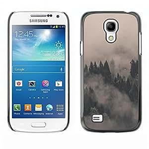 A-type Arte & diseño plástico duro Fundas Cover Cubre Hard Case Cover para Samsung Galaxy S4 Mini i9190 (NOT S4) (Misty Foggy Forrest)