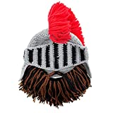 Beard Head Knight Beard Beanie - Funny Knitted