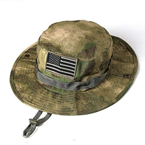 massmall Military Tactical Head Wear/Boonie Hat Cap with USA Patch For Wargame,Sports,Fishing &Outdoor Activties Multicam