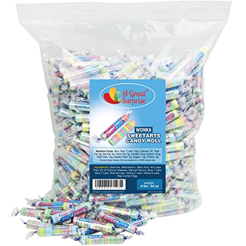 Sweet Tarts Candy Bulk - Wonka Sweetarts Twist Wrap Candies 4 LB Party Bag Family Size