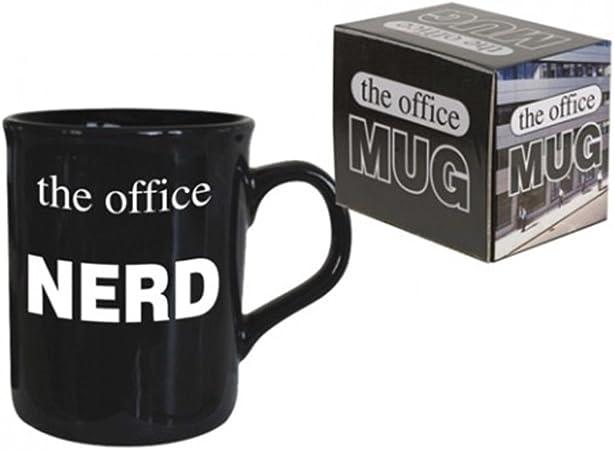 PMS Taza de café con Texto en inglés The Office Nerd en Caja Impresa, 284 ml A/B GRA: Amazon.es: Hogar