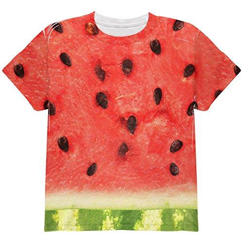 Watermelon Girl Costume (Watermelon Costume Halloween All Over Youth T Shirt Multi YSM)