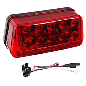 Wesbar 281595 Waterproof LED Wrap-Around Tail Light, Over 80