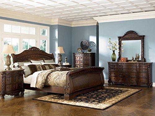 Cal King Sleigh Bedroom Set - Ashley North Shore Cal. King Sleigh Bedroom Set - 5 pc.